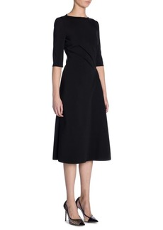 Armani Ruched Jersey A-Line Dress