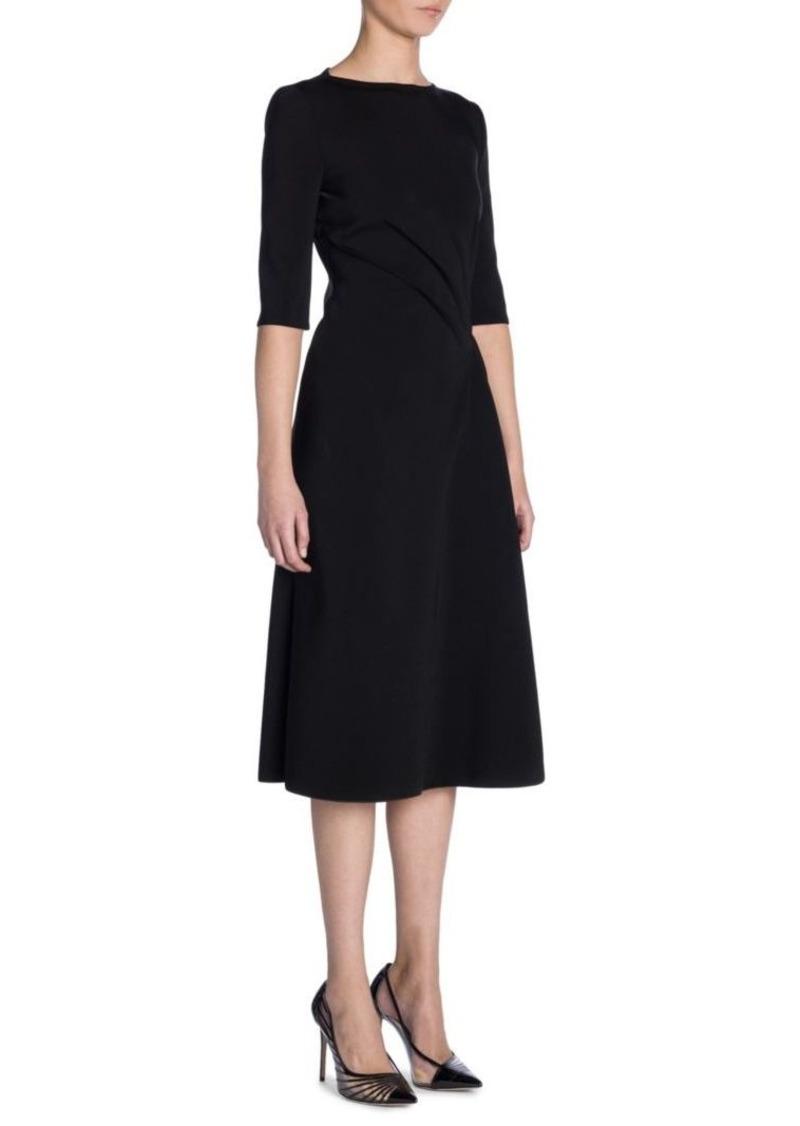 Armani Ruched Jersey A-Line Dress