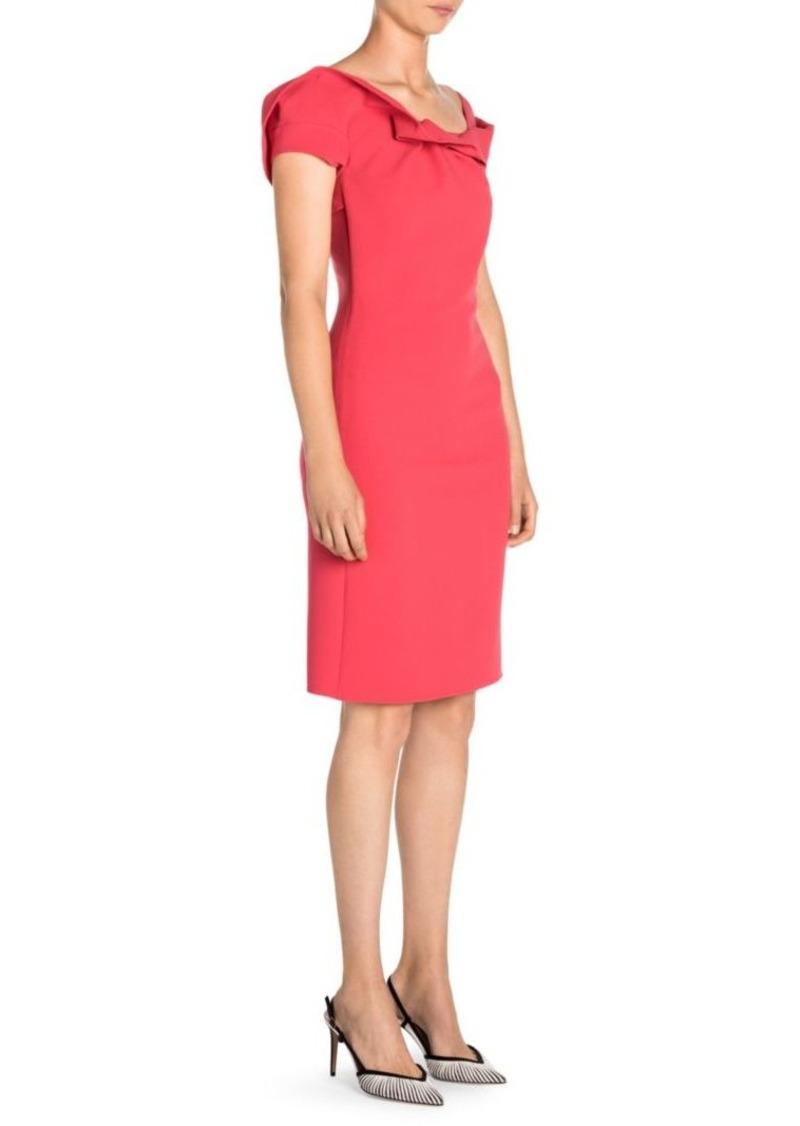 Armani Ruffle Neckline Sheath Dress