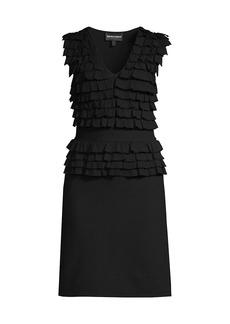 Armani Ruffle Stitch Knit Dress