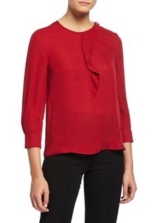 Armani Ruffled Silk Georgette Blouse