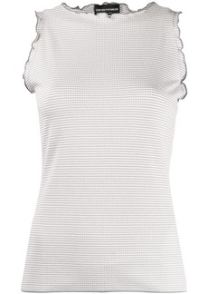 Armani ruffled sleeveless top