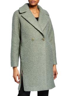 Armani Sage Boucle Cocoon Coat