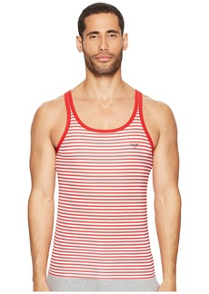 Armani Sailor Stripe Microfiber Tank Top