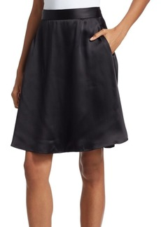 Armani Satin A-Line Skirt