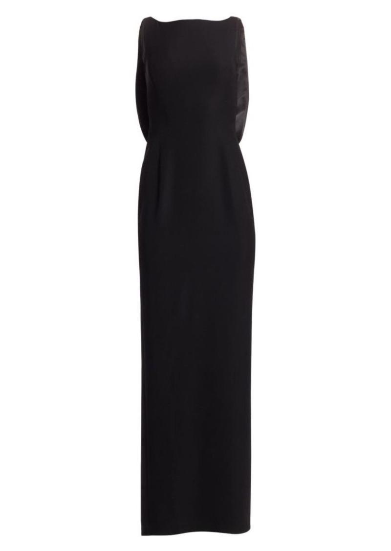 Armani Satin-Back Sleeveless Gown