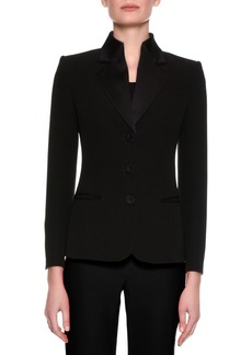 Armani Satin-Collar Tuxedo Jacket  Black