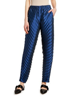 Armani Satin Plisse Bias-Cut Pants