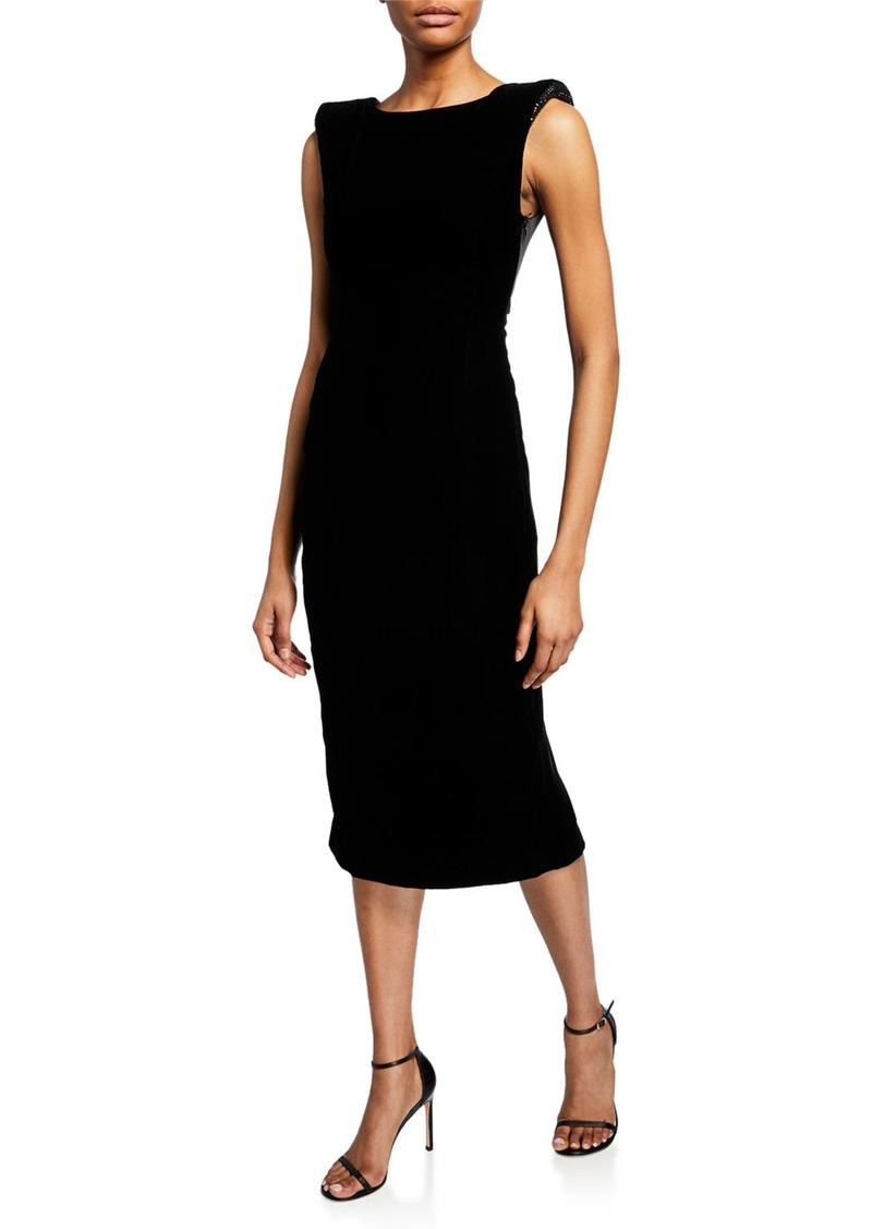 Armani Satin-Trim Velvet Cocktail Dress