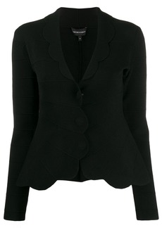 Armani scalloped fitted jacket