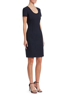 Armani Seam-Detail Sheath Dress
