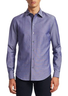Armani Seersucker Button-Down Shirt