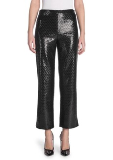 Armani Sequin Crop Flare Pants