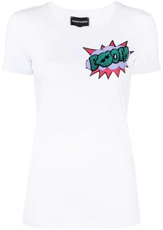 Armani sequin-detail graphic-print T-shirt