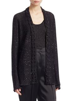 Armani Sequin Knit Open Cardigan