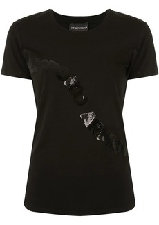 Armani sequin logo T-shirt