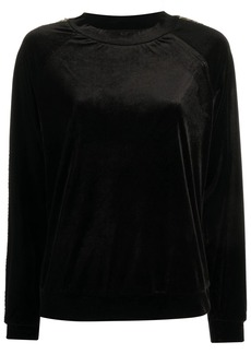 Armani sequin side panel sweatshirt