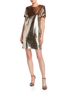 Armani Sequin Tunic T-Shirt Mini Dress