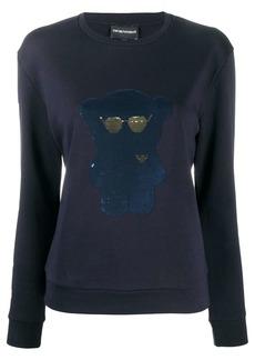 Armani sequined-bear sweatshirt