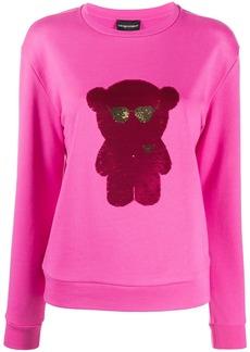 Armani sequined-logo sweatshirt