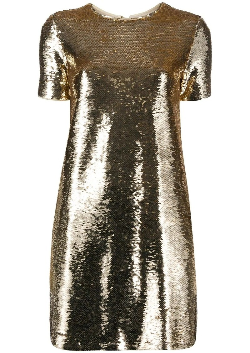 Armani sequinned T-shirt mini dress