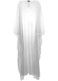 Armani sheer long cape