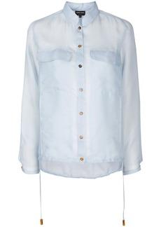 Armani sheer oversized shirt