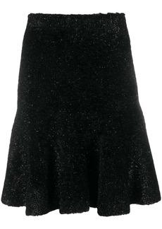 Armani shimmery fluted hem skirt