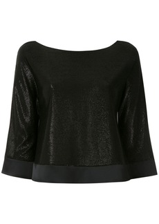 Armani shiny boat neck blouse