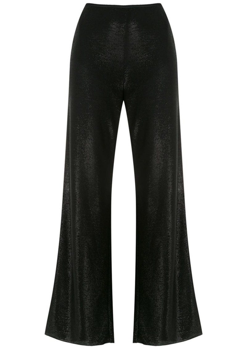 Armani shiny palazzo trousers