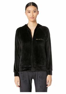 Armani Shiny Velvet Full Zip Jacket and Hood