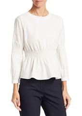 Armani Shirred Waist Cotton Top
