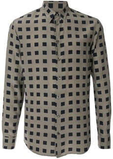 Armani squared pattern shirt