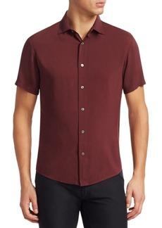 Armani Short Sleeve Button-Down Shirt