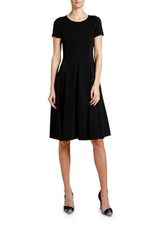 Armani Short-Sleeve Jersey Midi Dress