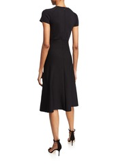 Armani Short-Sleeve Knitted Dress