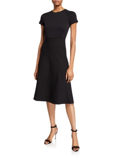Armani Short-Sleeve Knitted Dress