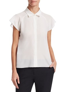 Armani Short Sleeve Silk Crepe Shirt