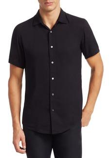 Armani Short Sleeve Solid Shirt