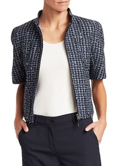 Armani Short Sleeve Tweed Jacket