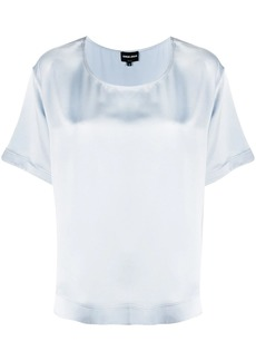 Armani short-sleeved silk blouse