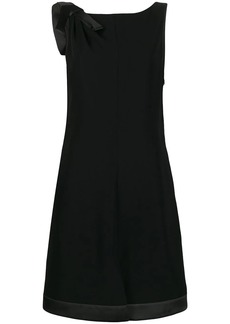 Armani shoulder bow shift dress