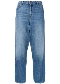Armani side logo loose jeans