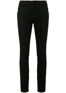 Armani side logo stripe skinny fit jeans