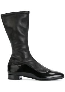 Armani side zip boots