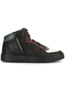 Armani side zip sneakers