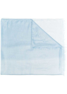 Armani signature logo fringe scarf