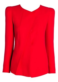 Armani Silk Blend Front Pleat Jacket