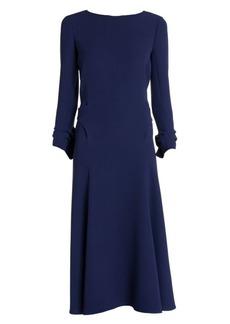 Armani Silk Cady Midi Dress