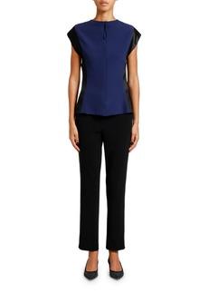 Armani Silk Cap-Sleeve Tunic